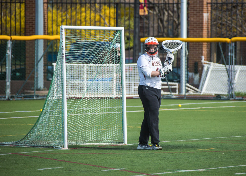 Gannon University's women's lacrosee goalie